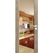 Ventura čiré sklo - rámové dveře