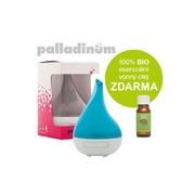 Palladinum ultrasonický aroma difuzér HANSCRAFT, modrá + 100% BIO esenciální vonný olej ZDARMA