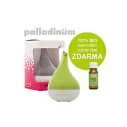 Palladinum ultrasonický aroma difuzér HANSCRAFT, hráškově zelená + 100% BIO esenciální vonný olej ZDARMA