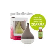 Palladinum ultrasonický aroma difuzér HANSCRAFT, šedá + 100% BIO esenciální vonný olej ZDARMA