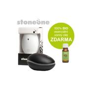 Stoneone ultrasonický aroma difuzér HANSCRAFT, černá + 100% BIO esenciální vonný olej ZDARMA
