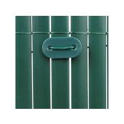 Zelené svorky k umělému rákosu - 26 kusů
