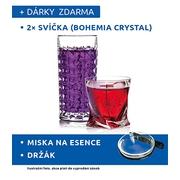 2 x svíčka BOHEMIA CRYSTAL
