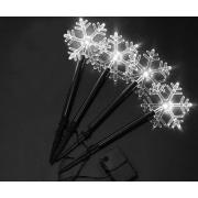 Sharks Solární vánoční osvětlení - Sněhová vločka, bílá SA152