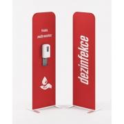 PREZENTA FLEXI dezinfekční stojan RED s bezdotykovým dávkovačem v ceně